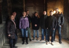 Group photo in the tower, St. Martin in the Wall Church